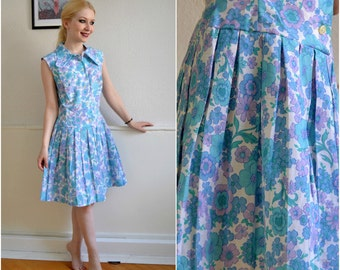 "Vintage dress ""LINA"" - Boho, hippie, 60s, S"