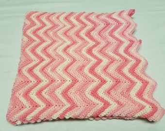 Baby Girl Pink Chevron Stripe