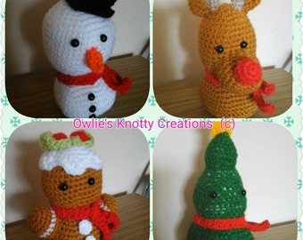 Hand Crocheted Christmas Collectables