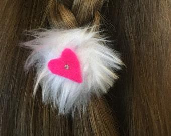 Fluffy kids hair ties