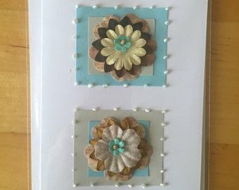 Blank floral Greetings Card
