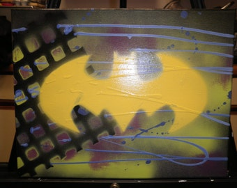 Batman Graffiti Hand Painted Cnavas