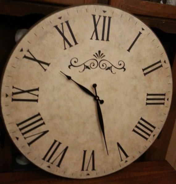 24 Inch Wall Clock With Roman Numerals