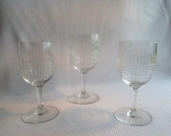 Vintage crystal wine glasses