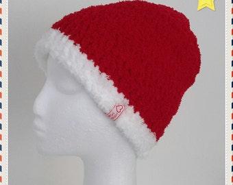 Crochet Hat - Luxury Supersoft Santa Beanie