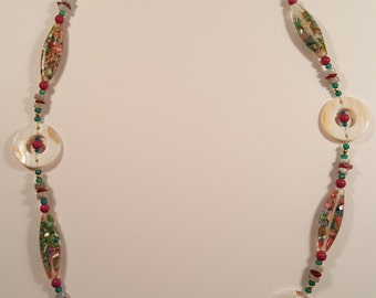 Crushed Shell Bead Necklace