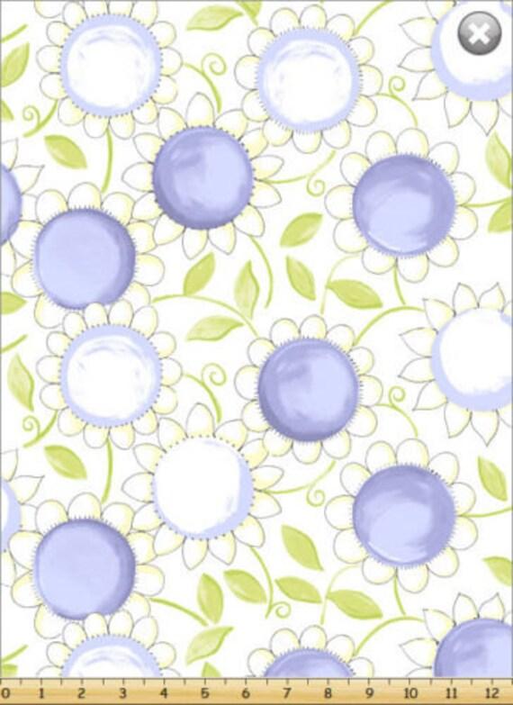 Susybee fabric nursery fabric susy sunflower lilac purple for Purple nursery fabric