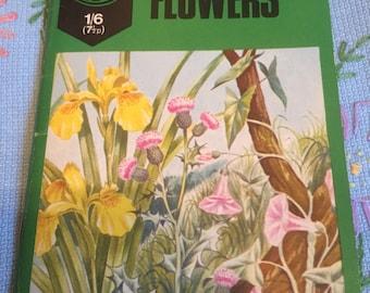 Vintage i-spy wild flower book