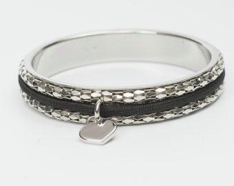 Busy Girl Bangle Silver- Hair Tie Bracelet
