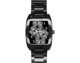 FRACTAL barrel watch-wearable ART-unique-stainless steel