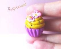 Disney Rapunzel inspired cupcake