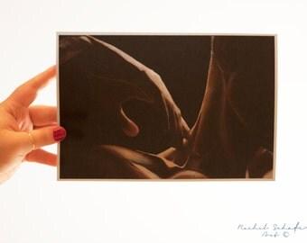 Shoulder Art Print - Male Hands - Stretch - Sensual Body Art - Love Art