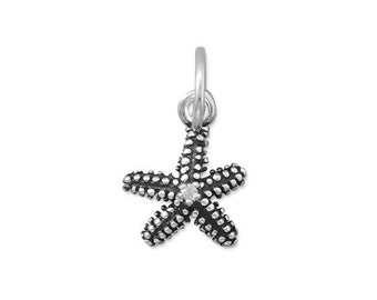 Oxidized Starfish Charm