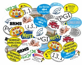 "Custom Printed 4"" x 6"" Oval Car Magnets - 50 pieces"