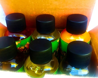 ORGANIC Carrier Oils Sampler Set Boxed, Cold Pressed Massage Oils Variety, apple oil, cherry oil, guava oil, plum oil, papaya oil, peach oil