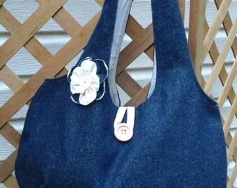 Reverseable  Denim  Bag