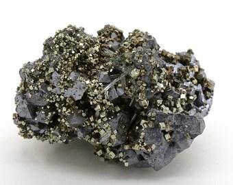 Galena with Pyrite and Quartz – 288g
