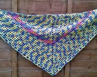 Hand-crochet shawl