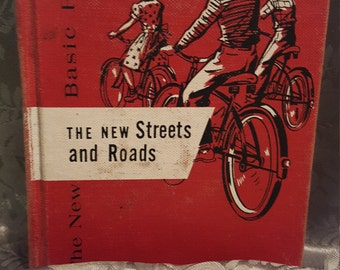 """Vintage Book """"The New Streets and Roads"""" 1952 Children's Reader"""