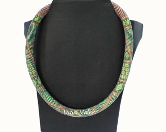 """Beaded necklace """"Patchwork"""""""