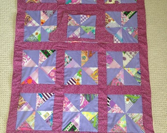 Window wheelchair lap quilt