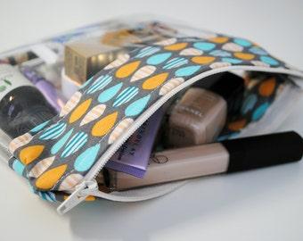 Zipper Pouch, Elephant Ears and PVC, Handmade