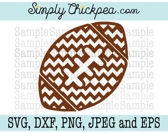 SVG, DXF, PNG, cutting file Jpeg and Eps - Chevron Football - Design - Silhouette Cameo Cricut Cutting File or Iron On Transfer