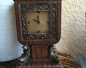 Vintage Clock with Paw feet and Dolphin Fish detail