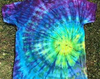 Tie Dye Blue Spiral Shirt XL