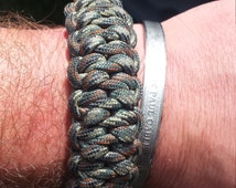 lizard belly pattern paracord survival bracelet