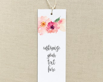 customizable printable bookmarks, bookmarks, printable. quotes, inspirational, floral
