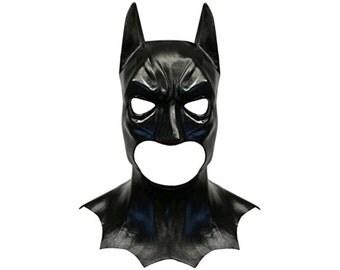 Batman Style Latex Costume Face Mask