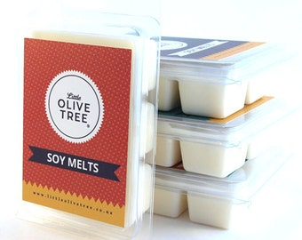 Soy Melts, made in New Zealand with 100% natural soy wax
