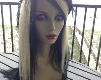 "Pair of 14"" PLatinum BLonde HUMAN Hair Extensions"