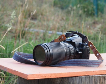 Upcycled Belt Camera Strap
