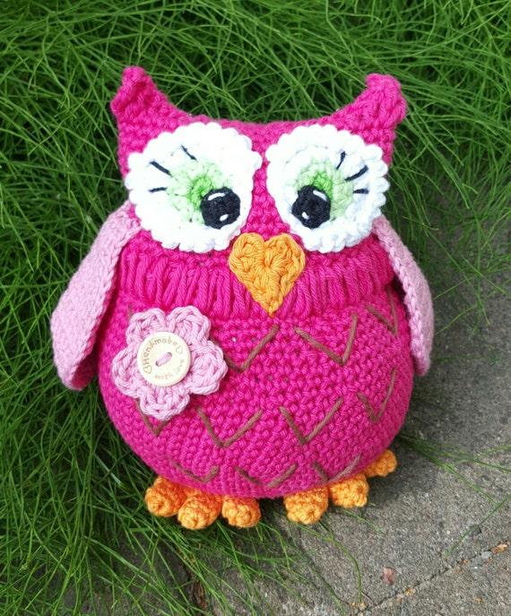 Polly the Owl Crochet Pattern Amigurumi by Zoffix on Etsy