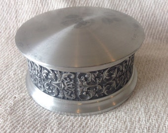 Vintage Selanger Pewter round Trinket Box