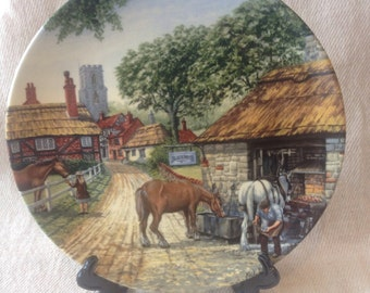 "Royal Doulton Limited Edition ""Journey Through the Village"" series plate- The Smithy"