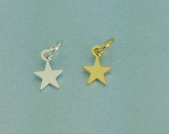 925 Tiny sterling silver star pendant. 5mm teeny tiny star pendant. Perfect for necklace.