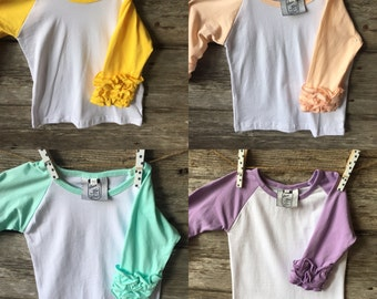 2 Color Boutique Raglan with Ruffle Capris