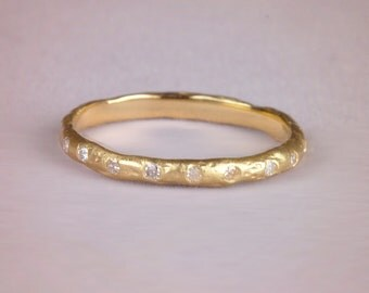 Delicate Diamond Wedding Band – Conflict Free Wedding Ring – Thin Diamond Wedding Band – Eternity Ring – diamond band