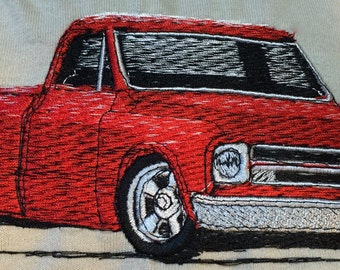1971-73 Vintage Chevy Pickup Embroidered Shirt