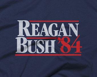 Vintage Style Reagan Bush '84 Tee Shirt