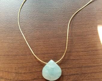 Pale Mint Gemstone Pendant Necklace