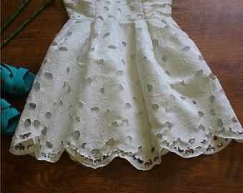 White summer dress top
