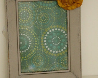5x7 hand painted frame with mustard flower