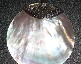 Beautiful Silver and Shell Pendant