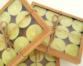 Apple Pie Scented Natural Soy Candles, Pack of 12 Deep Tea Lights