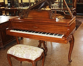 Gorgeous Restored Dominican Mahogany Baldwin Baby Grand French Case Piano C1937