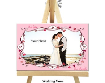 18cm x 12cm Personalized Canvas with Easel - Love